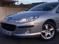 2005 ( 55 ) PEUGEOT 407 SE 1997cc PETROL 5 DOORS SILVER * LOW MILEAGE * FINANCE AVAILABLE * FSH *