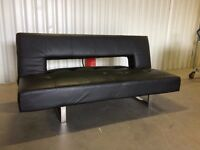 Faux leather sofa bed similar to DWELL in good condition // free delivery