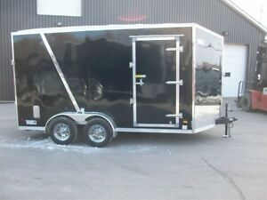 2018 US Cargo 7' x 14' X7' v-nose 2 essieux vtt 4 roues side by