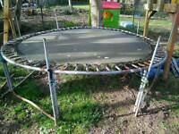 Trampoline 10ft with safety net, used
