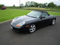 PORSCHE BOXSTER 2 DOOR CONVERTABLE BLACK