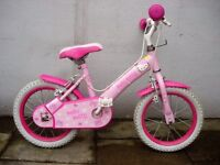 "Girls Bike, by Hello Kitty, Pink, 14 "" Wheels, Great for Kids 4 Years, JUST SERVICED/ CHEAP PRICE!!!"