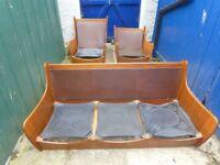 Vintage retro Gplan Saddleback suite sofa & 2 armchairs Dubois Pirelli