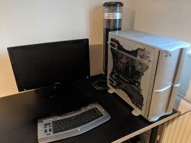 i7 CPU, 18GB RAM, 500GB HDD, GeForce 750, BD-RW, Zalman Water Cooled PC