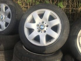 bmw 3 series 2001-2006 5 stud 205/55 R16 - COMPLETE ALLOY SET