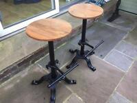 Cast iron pub stools