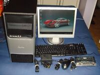 RM EXPERT 3040 PC TOWER BASE UNIT WITH WINDOWS 7 - (FREE SCREEN & KEYBOARD & MICE & ALL THE CABLES).