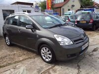 TOYOTA COROLLA VERSO 1.8 AUTOMATIC, 7 SEATER, SERVICE HISTORY, FINANCE AND WARRANTY AVAILABLE