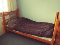 Single Bed made from Solid Wood