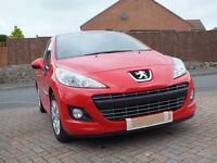 Peugeot 207 I.6 HDI.Flamenco red, Sevice history, excellent clean condition,low price road tax.