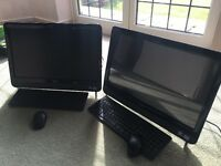 2 all in one PCs barely used incl one touch screen and printer