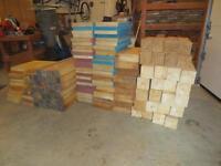 lot de morceaux de bois