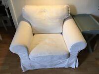 Armchair Ektorp IKEA armchair with white covers
