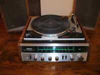 Sony HP-211A Vintage Stereo System Turntable & Speakers SS210 Solid State