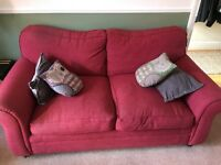 Two two-seater sofas - free but need to be collected this weekend or monday at the latest