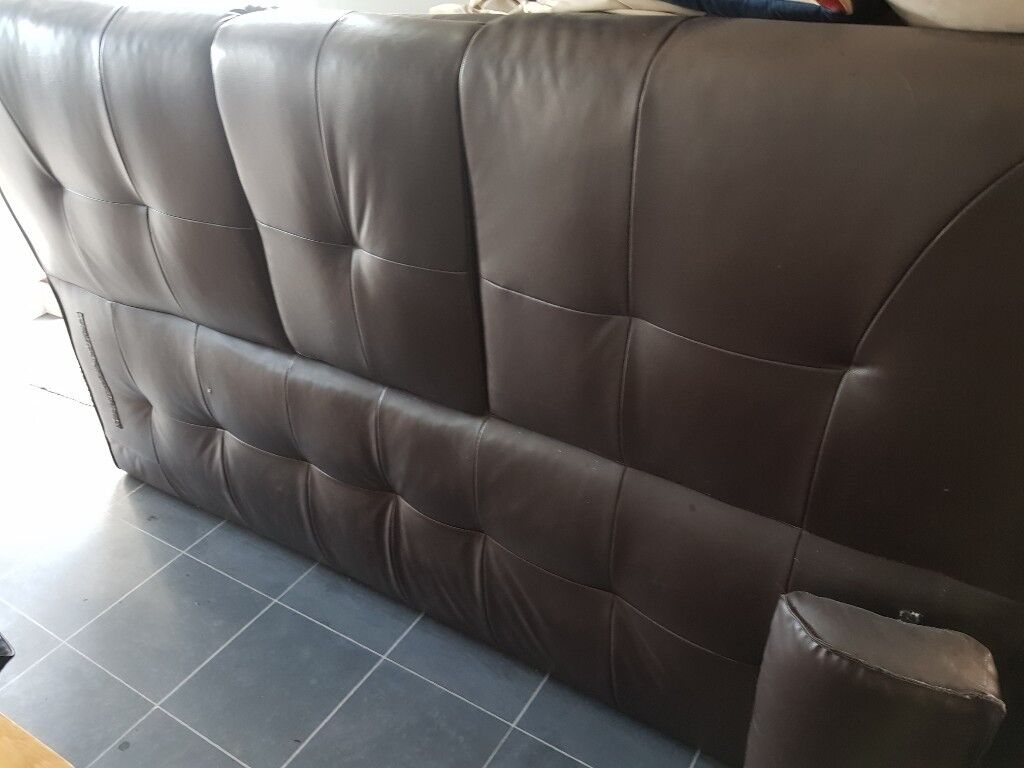 Free Brown Fake Leather Sofa Bed