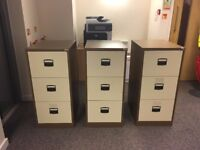 3 Office Filing Cabinets