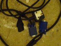 working VGA and power cables (£3 each)