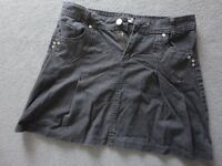 PRETTY AND SMART BLACK SKIRT JEANS - FRENCH BRAND - SIZE 12 - CHEAP £2 ONLY
