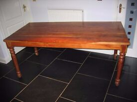 Solid Wood Farmhouse Style Table