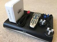 Sky+ HD Box, Remote & Router