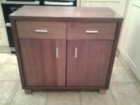 Wallnut effect tv cabiet and matching sideboard