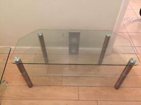 Glass tv unit good quality perfect condition
