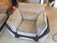 Light Brown Sofa and Chair