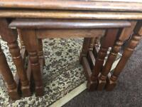 Wooden set of three nest of tables