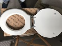 White Fired Earth brand new toilet seat