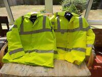 waterproof yellow work jackets