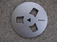 Philips 7 inch X 1/4 inch silver-coloured take-up spool