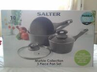 Brand new salter sauce pans