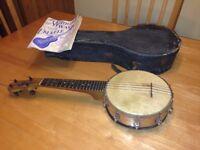 Very very rare 1910-20 vintage John Grey & Son vintage Banjo Uke