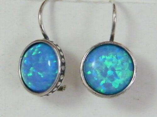New Elegant Shablool Didae Sterling Silver Earrings Blue Opal For Women