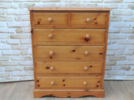 Satin solid wooden strong chest of drawers (Delivery)