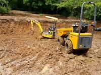 Mini digger hire £150 digger with driver excavator and operator