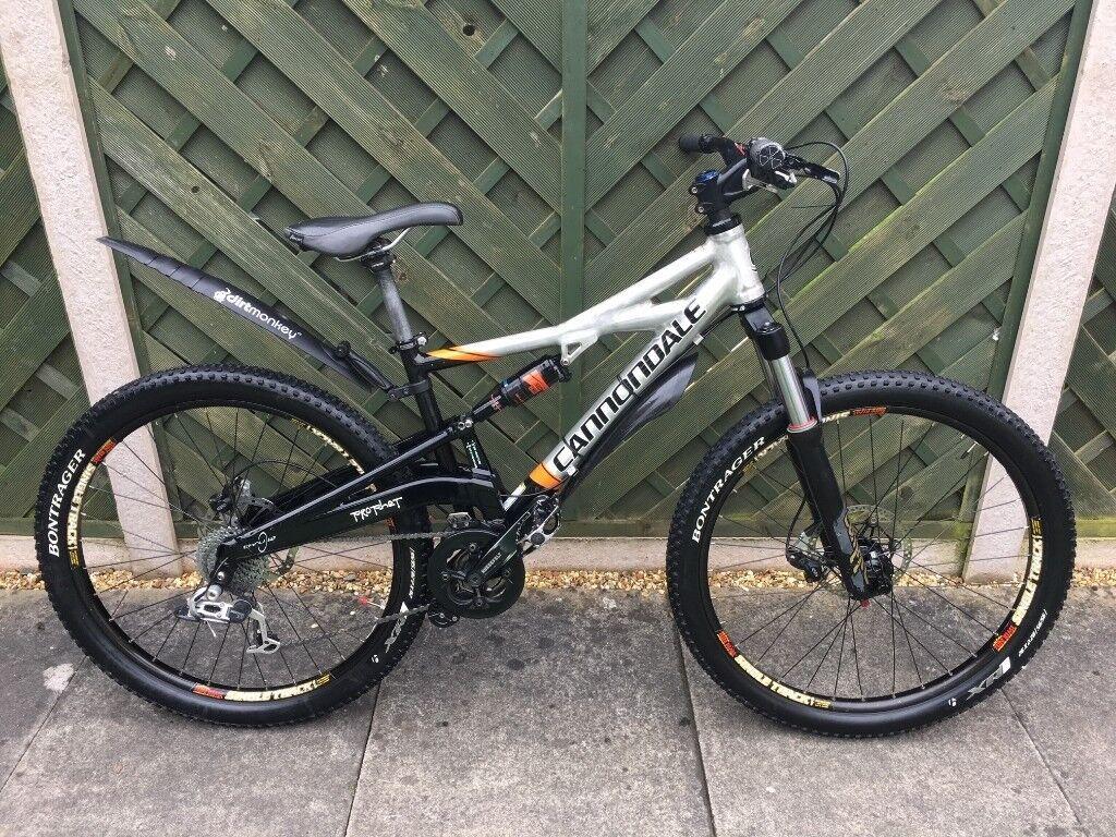 Cannondale Prophet Full Suspension Mountain Bike S M In Shefford