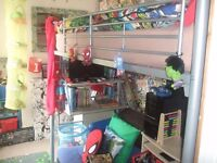 Bunk bed and fold out chair bed