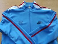 Nike track jacket Sky Blue with claret with white strips ( Medium ) As new