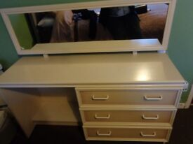 1980s Dressing table with mirror.