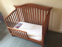 Wooden convertable cot / crib