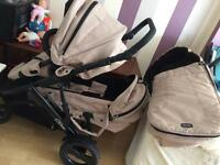 Double pushchair britax £115