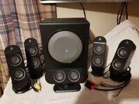 Logitech X-530 PC Multimedia Home Theatre Speaker System, Surround System