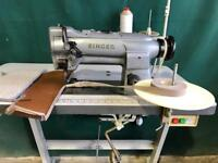 Singer walking foot industrial sewing machine with binding attachment for Rugs and carpets
