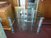 Silver & Glass TV unit