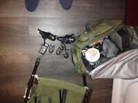 fox fishing equipment and other various fishing items