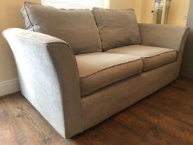 3 seater sofa - grey - good condition £150