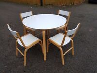Ikea SKOGHALL Round White Table & 4 Chairs FREE DELIVERY 350