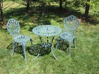 CAST BISTRO SET – TABLE & 2 CHAIRS